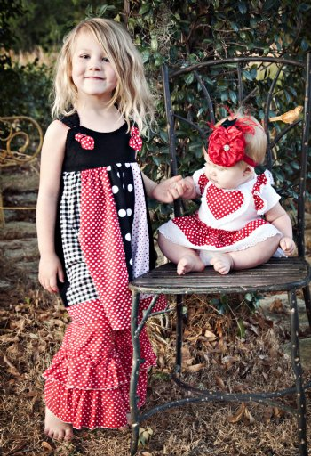 girls valentine knot dress 6 months to 12 years matches lil sis onesie brother outfit pair with a long sleeve shirt for cooler weather
