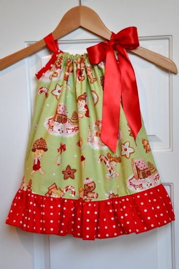 girls christmas dresses retro pillowcase dress personalize it - Girl Christmas Dresses