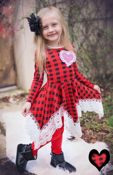 Girls Shabby Little Heart Dress Set U003cbru003eNow In Stock