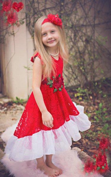 Girls Lace Rosetta Dress U003cbru003eNow In Stock