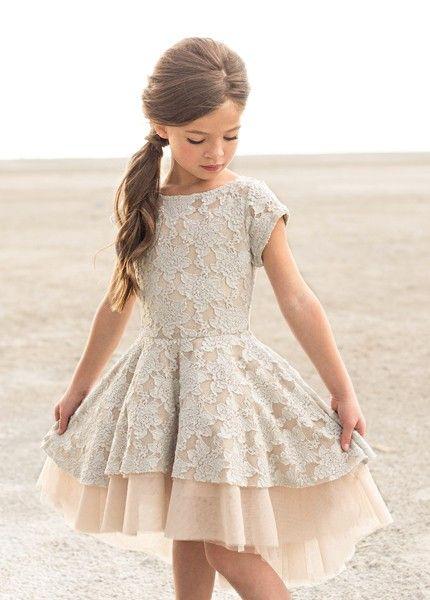 Joyfolie etta dress in champagne 2 to 5 years now in stock girls