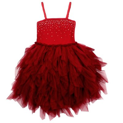 Ooh La La Couture High Low Red Devin Dress 4t Only Girls