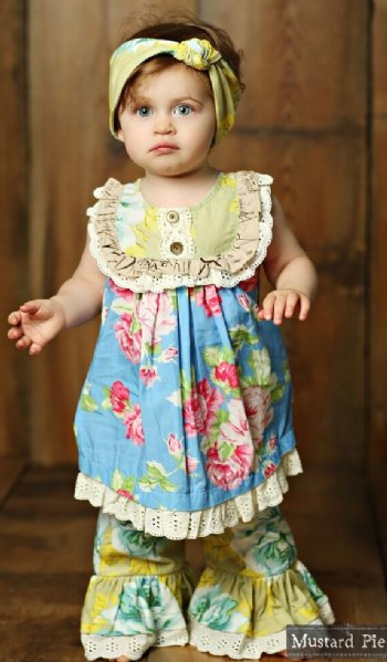 7957caa627a Mustard Pie 2018 Apple Blossom Baby Layla Set BR 18 Months to 6X
