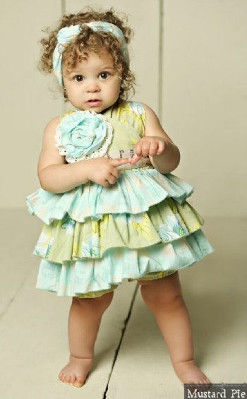 56e4a550f7b Mustard Pie 2018 Apple Blossom Jubilee Romper BR 9 to 18 Months ONLY