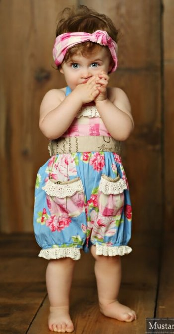 248ff1c3a91 Mustard Pie 2018 Apple Blossom Anatasia Romper BR 18 Months ONLY