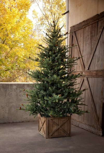 blue spruce 75 pre lit christmas tree - Christmas Tree Boxes