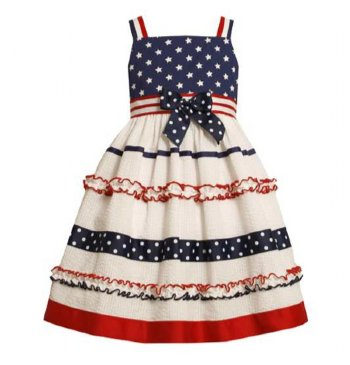 Little girls kids summer USA Flag print dress,4th of july baby girl outfit. Bonnie Jean Girls' Americana Dress. by Bonnie Jean. $ - $ $ 13 $ 37 46 Prime. FREE Shipping on eligible orders. Some sizes/colors are Prime eligible. out of 5 stars 7. Product Features Striped cotton American flag dress.