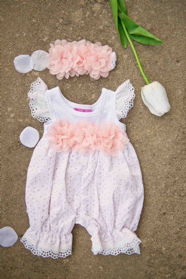 Innocence Rose Spring Bubble Romper 24 Months ONLY Girls