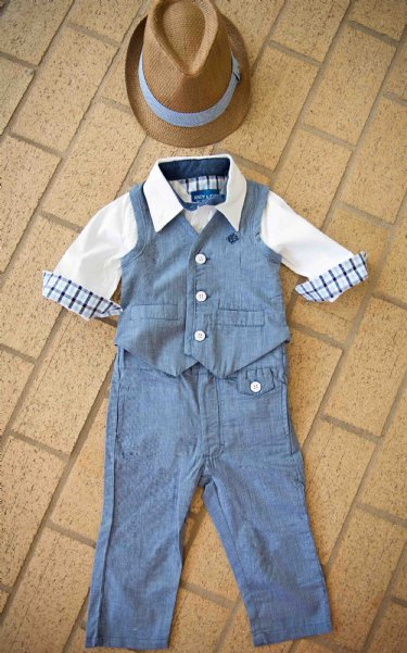 Andy & Evan Blue Jean Vest 3 Months to 7 Years Now In Stock - 3 to 24 Months