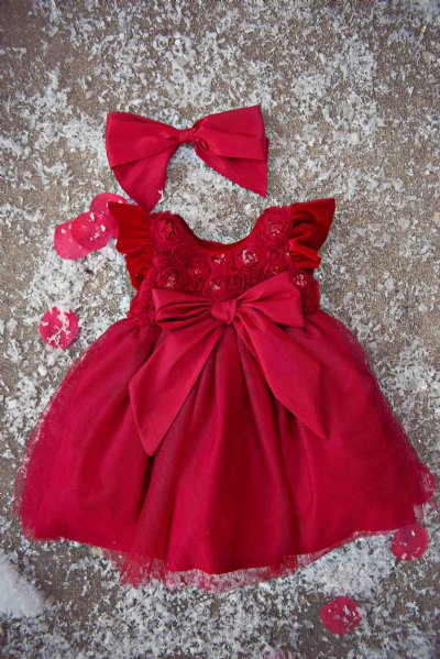 Holiday Sparkle Infant Dress 12 Months Only Girls