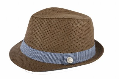 Andy & Evan Navy Houndstooth Fedora - 3 to 24 Months