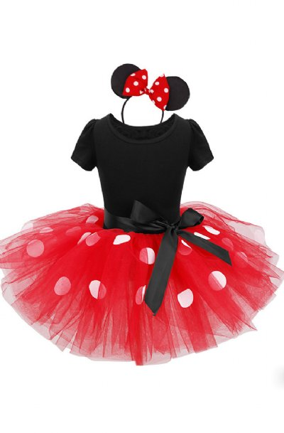 Red Minnie Mouse Fancy Tutu Dress Amp Headband Preorder