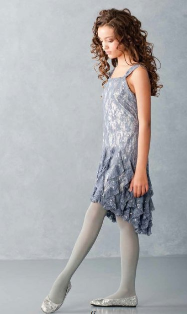 Tween Holiday Dresses - Plus Size Grey Dress