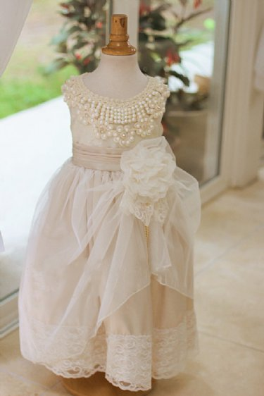 Devine Pearls Flower Girl Dress Now In Stock