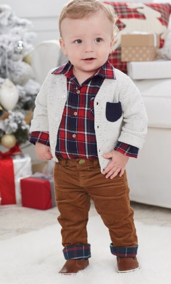 Boys Ivory Speckled Cardigan<BR>Now in Stock ... - Boys Christmas Outfits