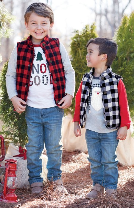 04b728765c2a Boys Red   Black Buffalo Check Vest Now in Stock