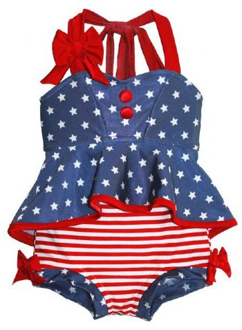 c643fa4975 Stars   Stripes Retro Hi-Low Tankini Swimsuit BR 7 Years ONLY ...