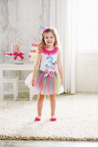 Girls Birthday Outfit Tutu Top Setbr12 Months To 3TBR