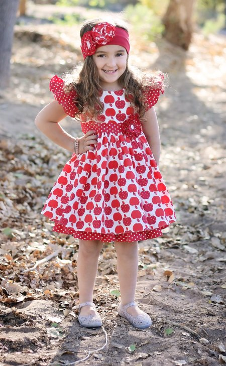 eeca1404bd2 A is for Apple Flutter Dress 4 to 8 Years Now in Stock
