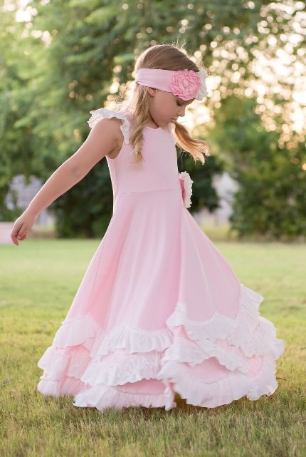 28e4c24d0498 Serendipity 2019 Unicorn Pink   White Maxi Dress 4 to 10 Years Now ...