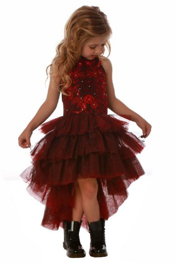 ooh la la couture 2018 red black chloe dress4 to 14 - Girl Christmas Dresses
