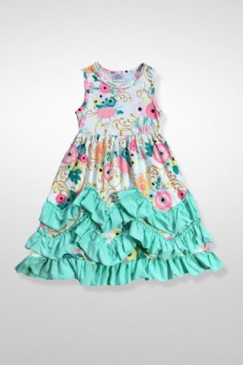 754b4654c9504 Girls Floral Ruffle Dress Set<br>2T to 7 Years<BR>Now ...