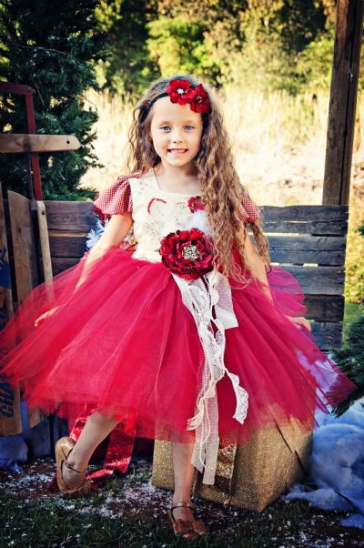 Country Cottage Christmas Couture Tutu Dress