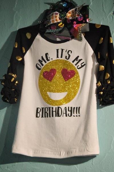 OMG Its My Birthday Emoji Tee Now In Stock