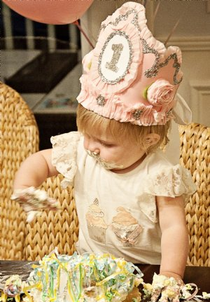 Couture 1st Birthday Hat Crown