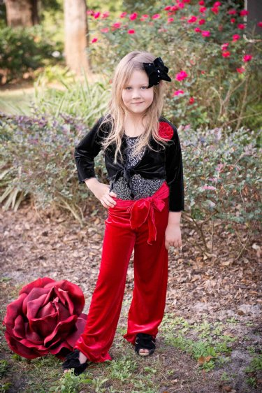 Girls Holiday Red Palazzo Pant 2t To 14 Years Now In Stock