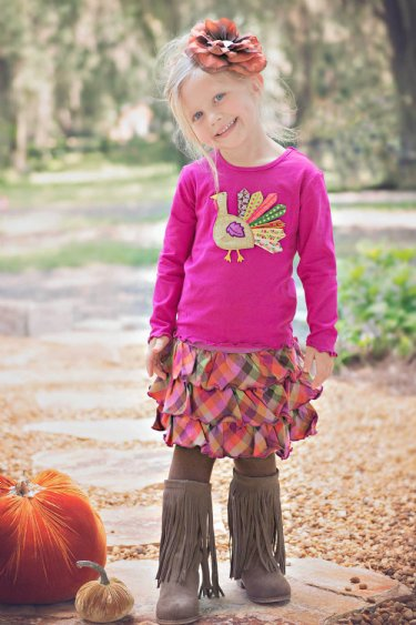 Girls Thanksgiving Outfit 2015 2t To 4 Years Only