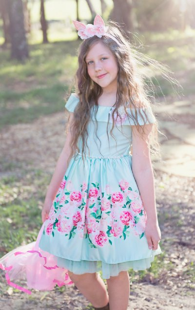 Tween Floral Satin Easter Dress Now In Stock