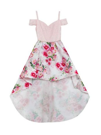 2698400f01c Tween Lacey Floral Hi-Low Gown BR 7 to 16 Years BR ...