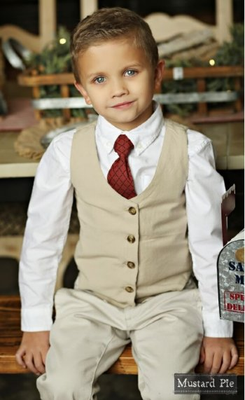 Mustard Pie 2018 Holiday Boy's Necktie<BR>Now in Stock ... - Boys Christmas Outfits