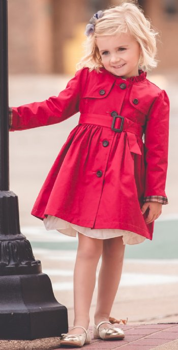 Mae Li Rose Belted Jacket 2t To 8 Years Now In Stock