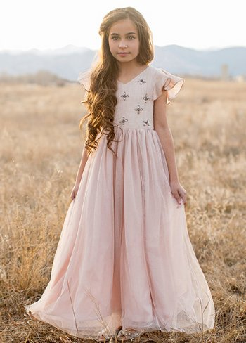 Flower girl dresses joyfolie 2018 ophelia dress in blushbrnow in stock mightylinksfo