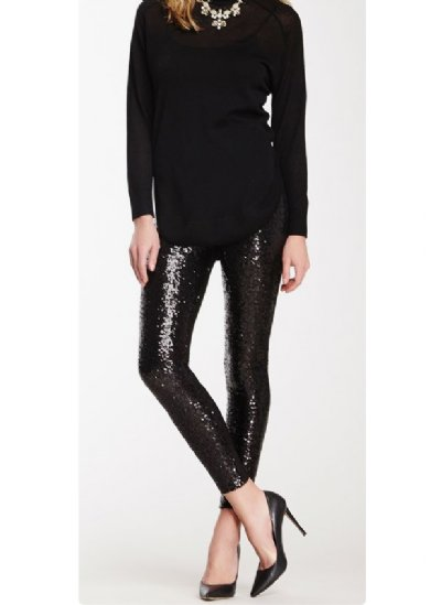 fe43f536a23b8 Women's Black Sequin Legging Now in Stock