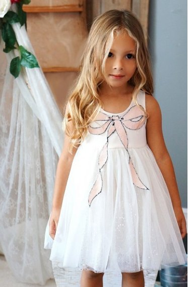 175b435f53 Little Pink Sequin Bow Dress br 12 Months to 4T ONLY ...