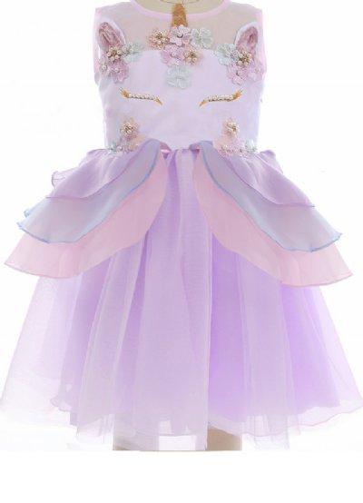 Girls Fancy Unicorn Party Dress in Purple Now in Stock 85b9a787f3