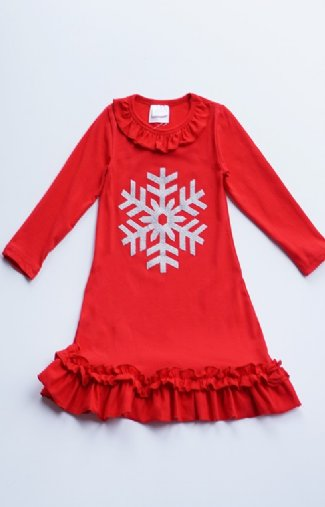 b06ec36bc5 Girls Ruffled Snowflake Night Gown br Now in Stock ...