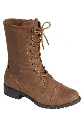 Girls Vintage Lace Up Boot Brown Now in
