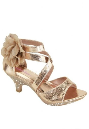 Girls All Dolled Up Heel in Gold In Stock