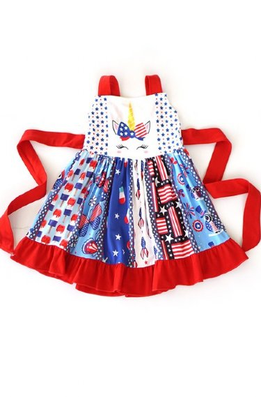 8a11f86ada2be Fourth of July Children's Clothing, Girls Fourth of July Dress, 4th ...
