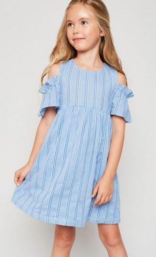 633811cfdaf Tween Sky Blue Cold Shoulder Dress Preorder br 7 to 14 Years ...