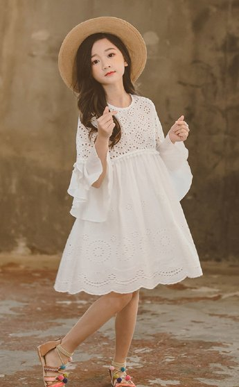 d5025269a1f81 Girls White Lace Babydoll Dress Preorder<br>4 to 14 Years ...