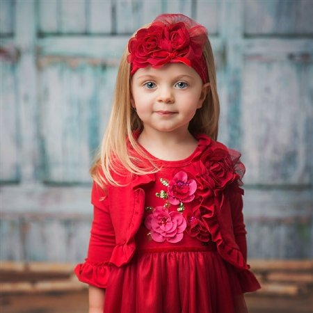 62ffd73ad Haute Baby 2017 Ruby Sparkle Shrug 4T ONLY