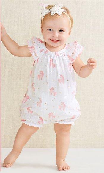 e6144e795 Unicorn Bubble Romper Preorder<BR>Newborn to 18 Months ...