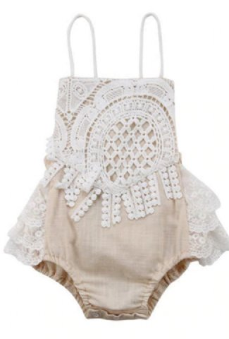 f17080a733 Boho Baby Crochet Lace Romper Preorder ...