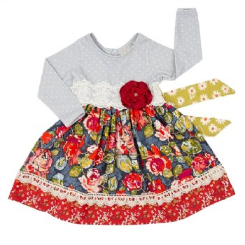 b87c5e2e09 Haute Baby 2019 Autumn Blooms Dress Preorder BR 4T to 8 Years ...